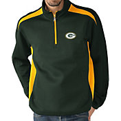 G-III Men's Green Bay Packers Hail Mary Half-Zip Green Pullover
