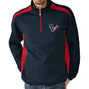 G-III Men's Houston Texans Hail Mary Half-Zip Navy Pullover
