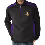 G-III Men's Minnesota Vikings Hail Mary Half-Zip Purple Pullover