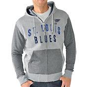 G-III Men's St. Louis Blues Grey Safety Full Zip Hoodie