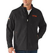 G-III Men's Philadelphia Flyers Fullback Full-Zip Black Soft Shell Fleece Jacket