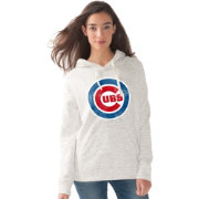 Touch by Alyssa Milano Women's Chicago Cubs Logo White Hoodie