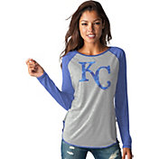 Touch by Alyssa Milano Women's Kansas City Royals Grey/RoyalLong Sleeve Shirt