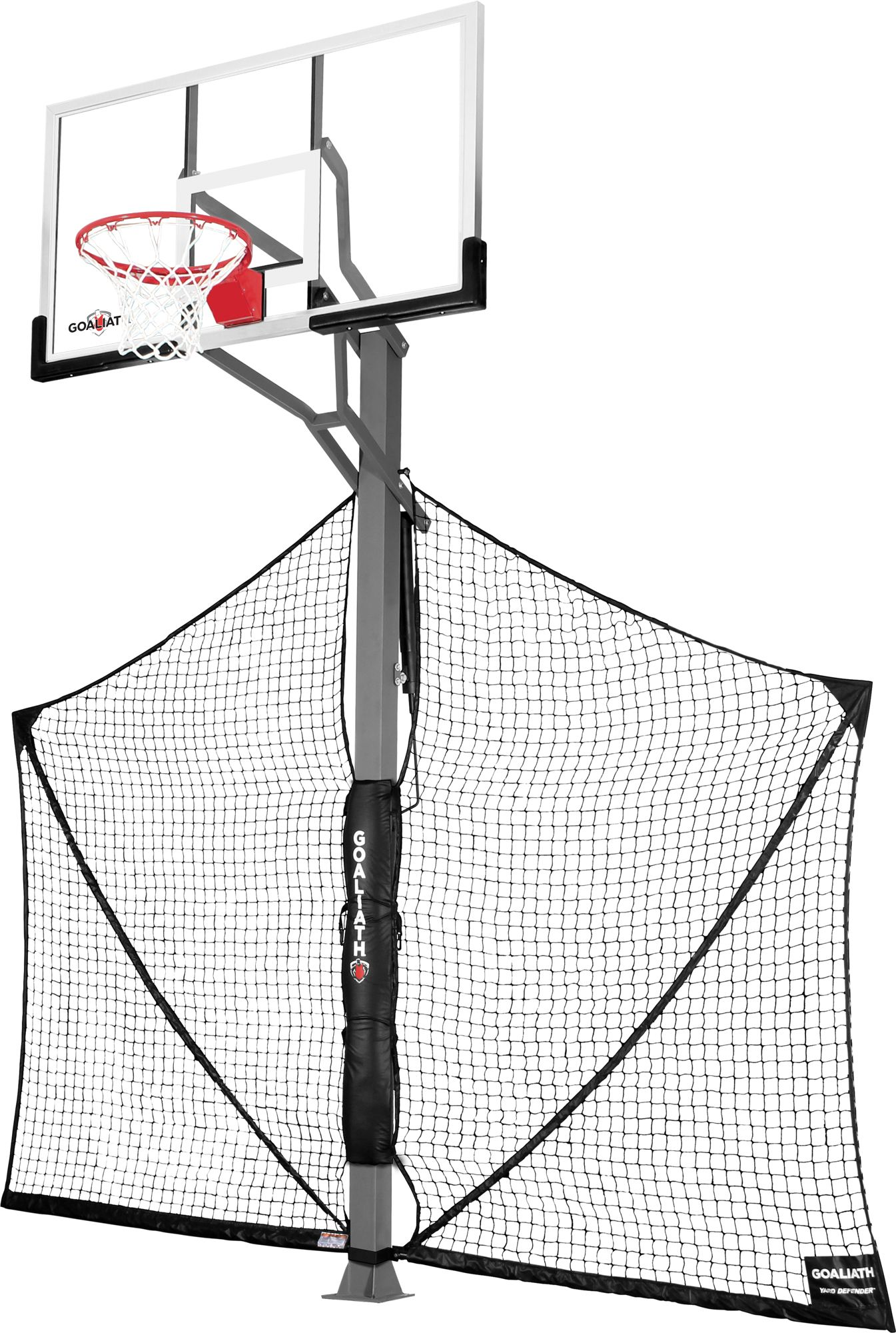 goaliath 60 u201d in ground basketball hoop with yard defender u0027s