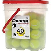 GAMMA Bucket-O-Balls Pressureless Tennis Balls - 40 Ball Pack