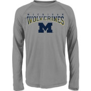 Gen2 Youth Michigan Wolverines Grey Fadeout Long Sleeve Shirt