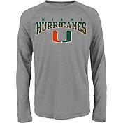Gen2 Youth Miami Hurricanes Grey Fadeout Long Sleeve Shirt