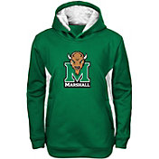Gen2 Youth Marshall Thundering Herd Green Power Logo Performance Hoodie