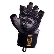GoFit Diamond-Tac Wrist Wrap Weightlifting Gloves
