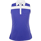 Garb Girls' Violet Sleeveless Golf Polo