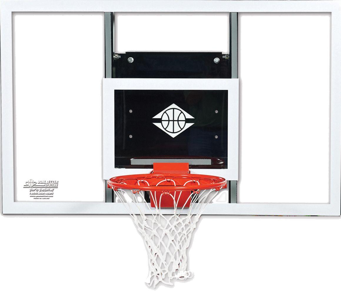 "Product Image · Goalsetter 60"" Fixed Height Baseline Glass Backboard and HD  Breakaway Rim - Wall-Mounted Basketball Hoops DICK'S Sporting Goods"
