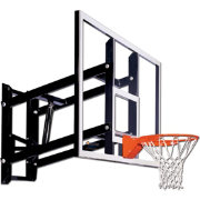"Goalsetter 54"" Fixed Height Glass Backboard and Collegiate Rim"