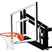 "Goalsetter 54"" Adjustable Glass Backboard and Collegiate Rim"