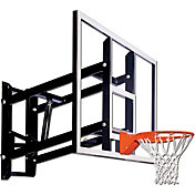 "Goalsetter 60"" Adjustable Glass Backboard and Single Static Rim"