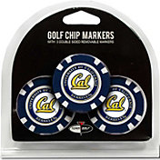 Team Golf California Golden Bears Poker Chips Ball Markers - 3-Pack