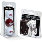 Team Golf Mississippi State Bulldogs Golf Ball and Tee Set