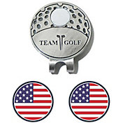 Team Golf USA Flag Cap Clip and Ball Marker Set