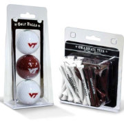 Team Golf Virginia Tech Hokies Golf Ball and Tee Set