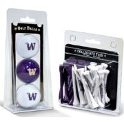Team Golf Washington Huskies Golf Ball and Tee Set