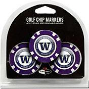 Team Golf Washington Huskies Poker Chips Ball Markers - 3-Pack