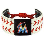 Miami Marlins Classic Two Seamer Baseball Bracelet