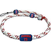 GameWear Boston Red Sox Dustin Pedroia Classic Jersey Frozen Rope Baseball Necklace