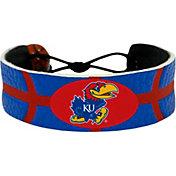 Kansas Jayhawks Team Color Basketball Bracelet