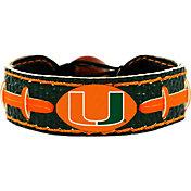 GameWear Miami Hurricanes Team-Colored Football Bracelet