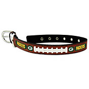 Green Bay Packers Packers Classic Leather Football Dog Collar