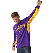 Hands High Men's LSU Tigers Purple Gridiron Thermal Long Sleeve Shirt