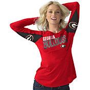 Hands High Women's Georgia Bulldogs Red Handoff Long Sleeve Shirt