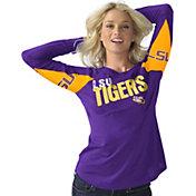 Hands High Women's LSU Tigers Purple Handoff Long Sleeve Shirt