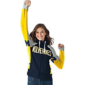 Hands High Women's Michigan Wolverines Blue Down the Field Hoodie