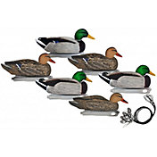 Hard Core Pre-Rigged Standard Mallard Floating Decoys – 6 Pack