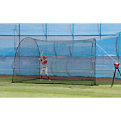 Heater Crusher Curve Pitching Machine & HomeRun 12' Batting Cage