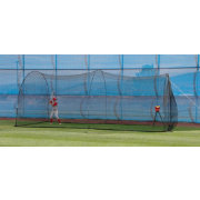 Heater Crusher Curve Pitching Machine & PowerAlley 20' Batting Cage