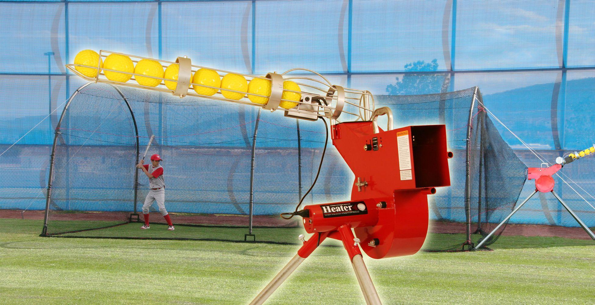 heater baseball u0026 softball combo pitching machine u0026 xtender 24