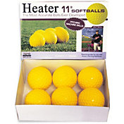 "Heater 11"" Yellow Dimpled Pitching Machine Softballs"