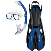 Head Tarpon Mask, Barracuda Dry Snorkel and Volo One Fins Snorkeling Set