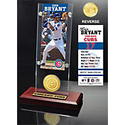 Highland Mint Chicago Cubs Kris Bryant Ticket & Bronze Coin Acrylic Desk Top