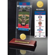 Highland Mint 3-Time World Series Champions Chicago Cubs Ticket and Bronze Coin Acrylic Desktop Display
