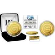 Highland Mint 3-Time World Series Champions Chicago Cubs Gold Mint Coin