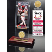 Highland Mint Lou Brock St. Louis Cardinals Hall of Fame Ticket and Bronze Coin Acrylic Desktop Display