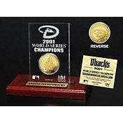 Highland Mint Arizona Diamondbacks World Series Championship Gold Coin Etched Acrylic