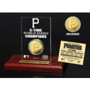 Highland Mint Pittsburgh Pirates World Series Championship Gold Coin Etched Acrylic