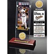 Highland Mint Cal Ripken Jr. Baltimore Orioles Hall of Fame Ticket and Bronze Coin Acrylic Desktop Display