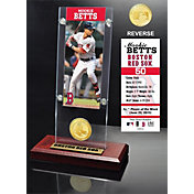 Highland Mint Boston Red Sox Mookie Betts Ticket & Bronze Coin Acrylic Desk Top