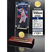 Highland Mint Houston Astros George Springer  Ticket & Bronze Coin Acrylic Desk Top