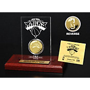 The Highland Mint New York Knicks Gold Coin Etched Acrylic