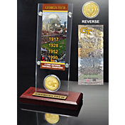 Highland Mint Georgia Tech Yellow Jackets 4-Time National Champions Ticket and Bronze Coin Desktop Display